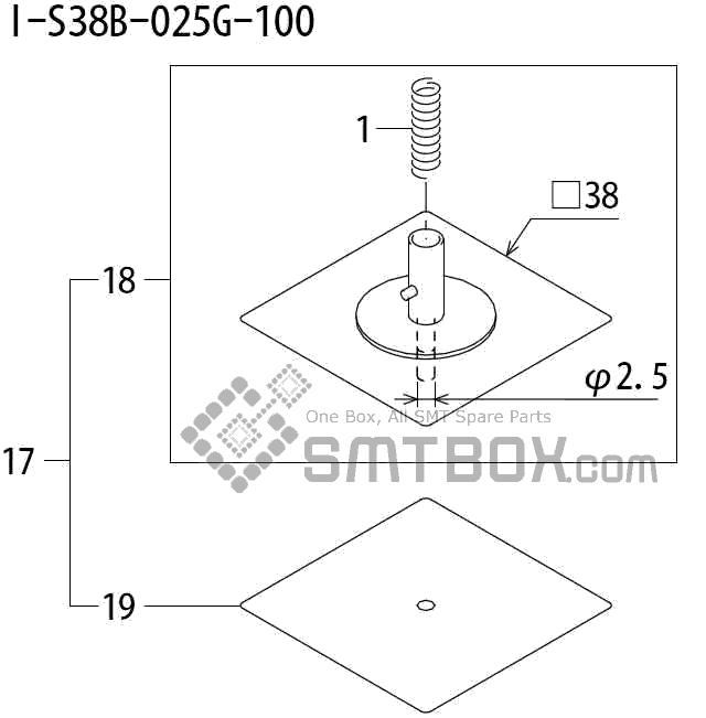 FUJI QP 242E 10 QP 242E(10JE) Nozzle Part No.ABHPN8565 Rating I S38B 025G 100 side a