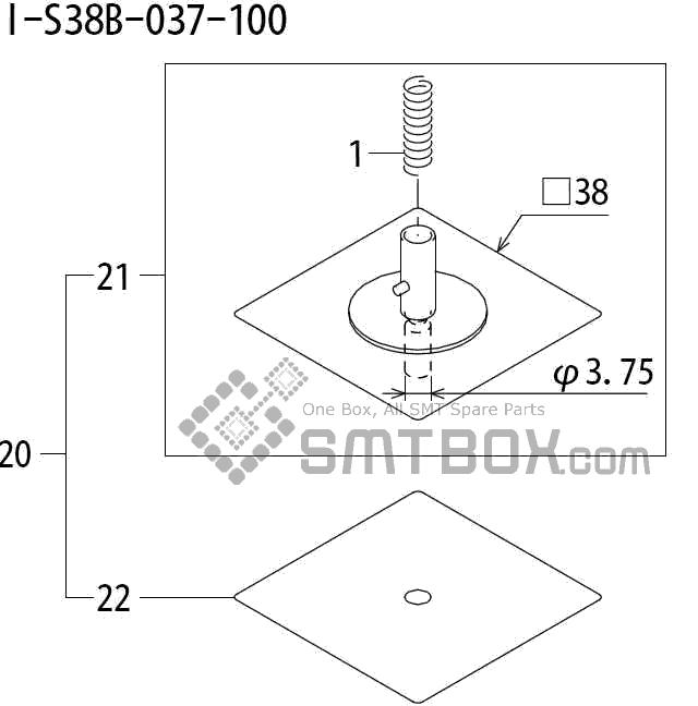 FUJI QP 242E 10 QP 242E(10JE) Nozzle Part No.ABHPN8575 Rating I S38B 037 100 side a