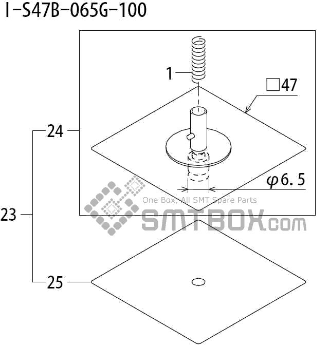FUJI QP 242E 10 QP 242E(10JE) Nozzle Part No.ABHPN8586 Rating I S47B 065G 100 side a