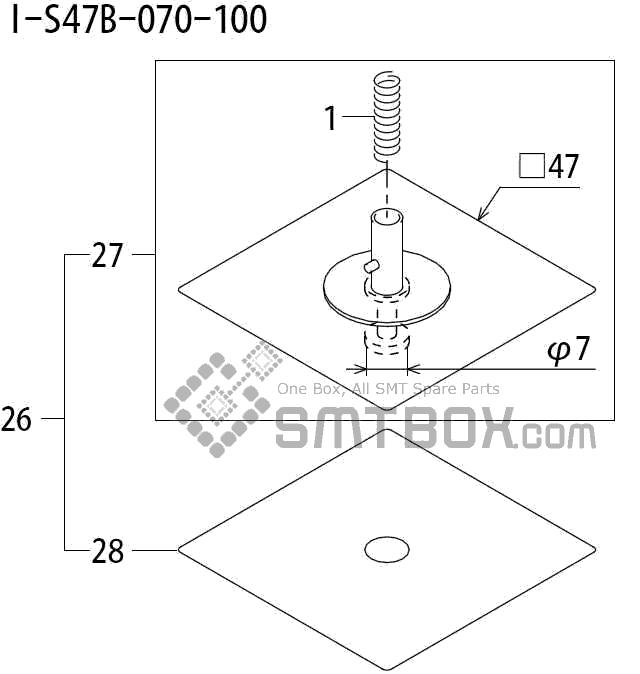 FUJI QP 242E 10 QP 242E(10JE) Nozzle Part No.ABHPN8595 Rating I S47B 070 100 side a