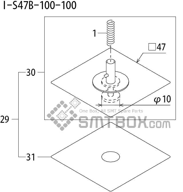 FUJI QP 242E 10 QP 242E(10JE) Nozzle Part No.ABHPN8605 Rating I S47B 100 100 side a