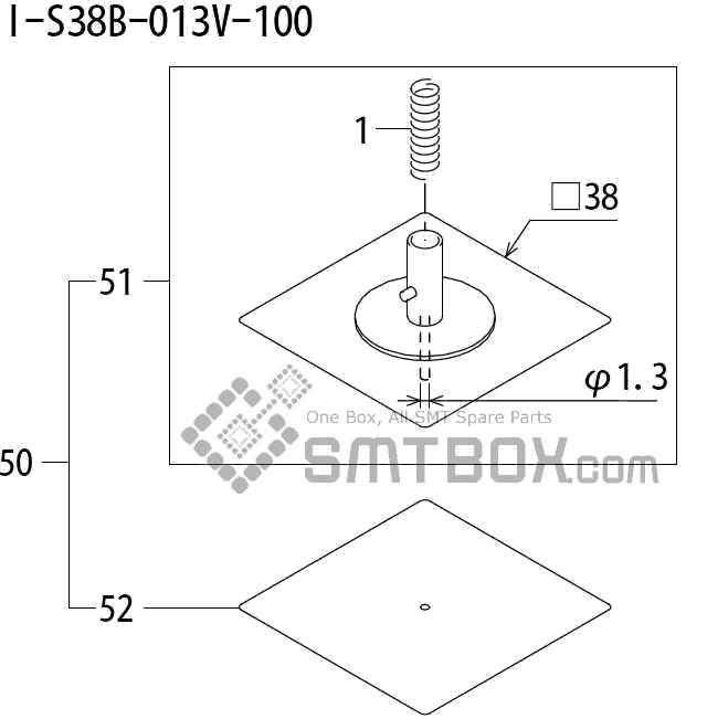 FUJI QP 242E 10 QP 242E(10JE) Nozzle Part No.ABHPN8675 Rating I S38B 013V 100 side a