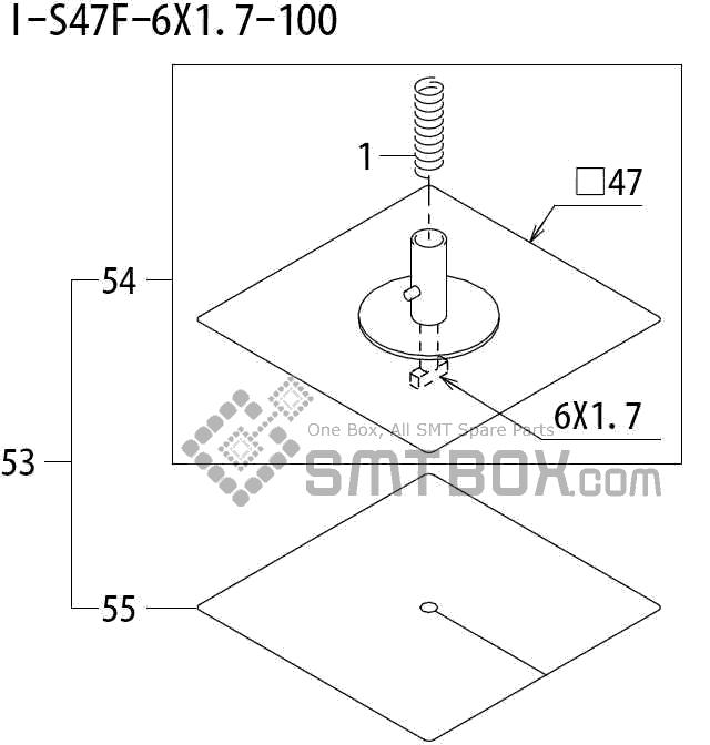 FUJI QP 242E 10 QP 242E(10JE) Nozzle Part No.ABHPN8681 Rating I S47F 6X1.7 100 side a