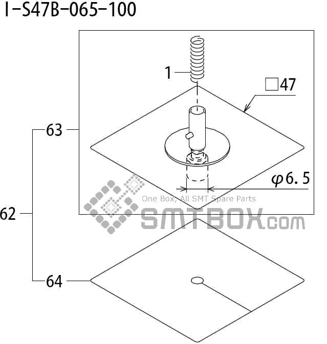 FUJI QP 242E 10 QP 242E(10JE) Nozzle Part No.ABHPN8711 Rating I S47B 065 100 side a
