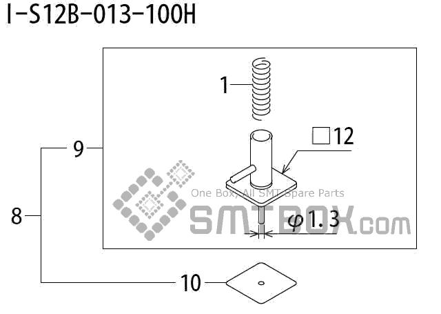 FUJI QP 242E 10 QP 242E(10JE) Nozzle Part No.ABHPN8740 Rating I S12B 013 100H side a