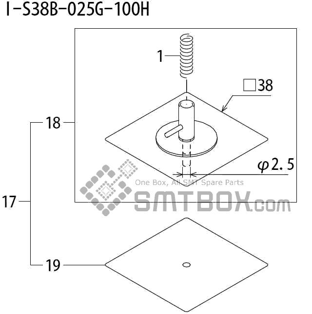 FUJI QP 242E 10 QP 242E(10JE) Nozzle Part No.ABHPN8770 Rating I S38B 025G 100H side a