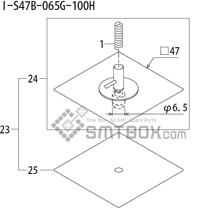 FUJI QP 242E 10 QP 242E(10JE) Nozzle Part No.ABHPN8790 Rating I S47B 065G 100H side a