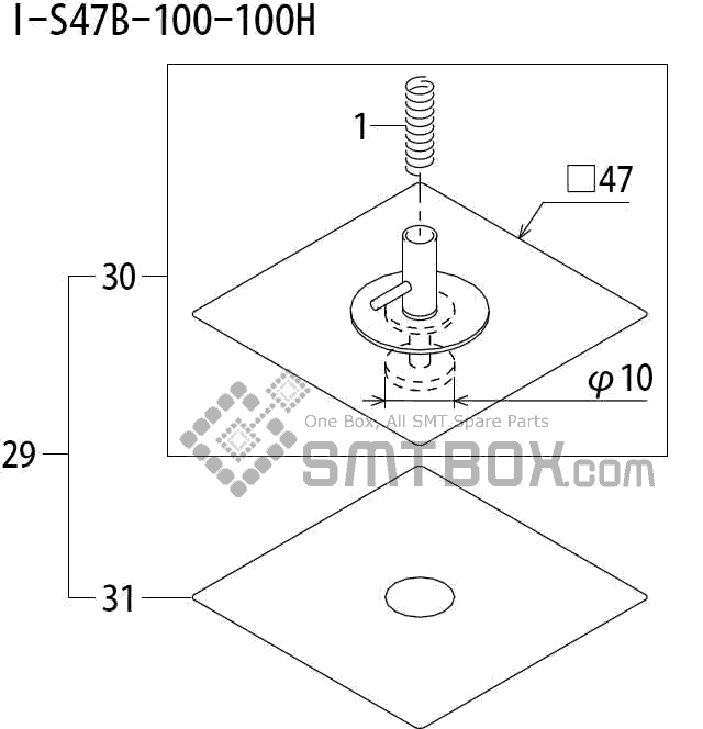 FUJI QP 242E 10 QP 242E(10JE) Nozzle Part No.ABHPN8810 Rating I S47B 100 100H side a