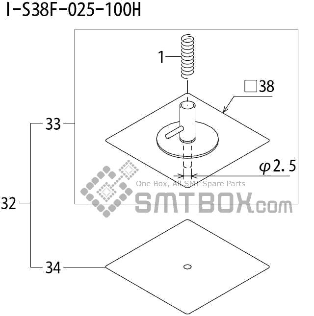 FUJI QP 242E 10 QP 242E(10JE) Nozzle Part No.ABHPN8820 Rating I S38F 025 100H side a