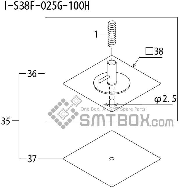 FUJI QP 242E 10 QP 242E(10JE) Nozzle Part No.ABHPN8830 Rating I S38F 025G 100H side a
