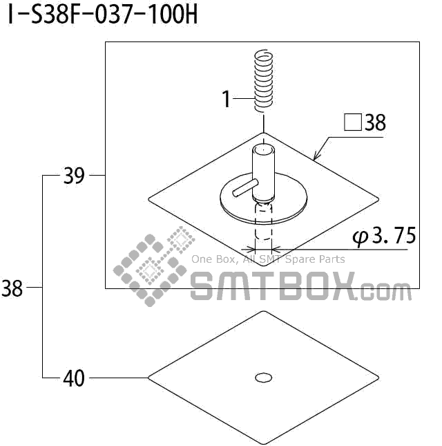 FUJI QP 242E 10 QP 242E(10JE) Nozzle Part No.ABHPN8840 Rating I S38F 037 100H side a