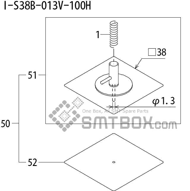 FUJI QP 242E 10 QP 242E(10JE) Nozzle Part No.ABHPN8880 Rating I S38B 013V 100H side a