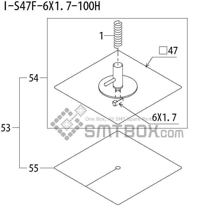 FUJI QP 242E 10 QP 242E(10JE) Nozzle Part No.ABHPN8890 Rating I S47F 6X1.7 100H side a