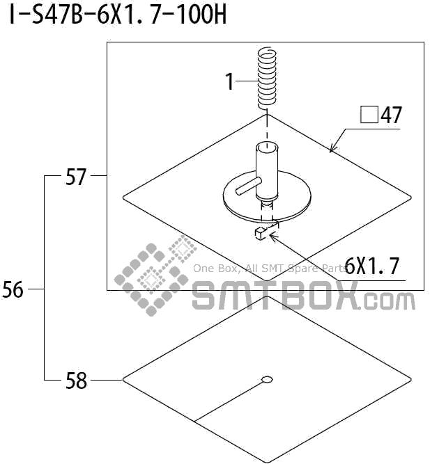 FUJI QP 242E 10 QP 242E(10JE) Nozzle Part No.ABHPN8900 Rating I S47B 6X1.7 100H side a