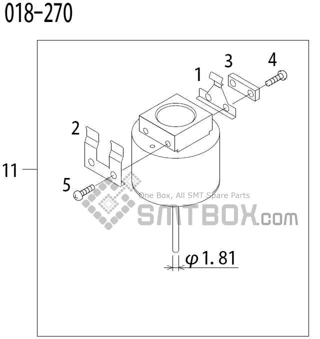 FUJI QP 341E MM 04 NozzlePart No.ADBPN8114Rating 018 270
