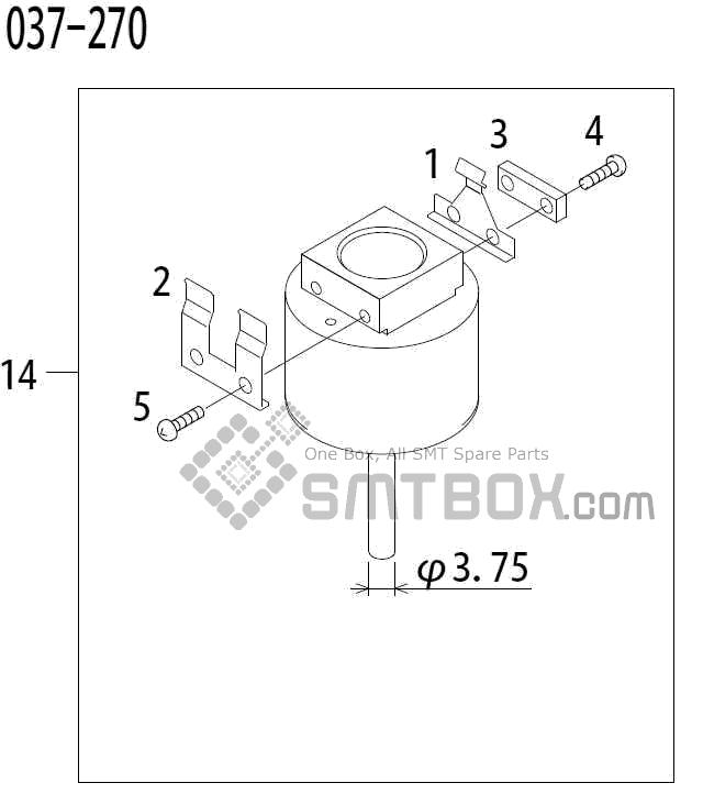 FUJI QP 341E MM 04 Nozzle Part No.ADBPN8144 Rating 037 270 side a