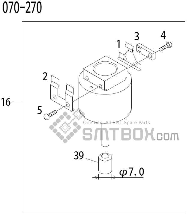 FUJI QP 341E MM 04 Nozzle Part No.ADBPN8154 Rating 070 270 side a