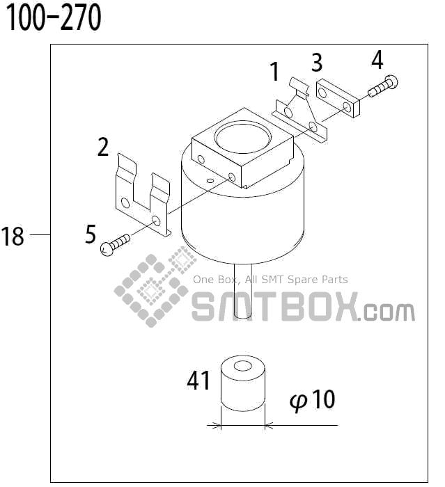 FUJI QP 341E MM 04 Nozzle Part No.ADBPN8164 Rating 100 270 side a