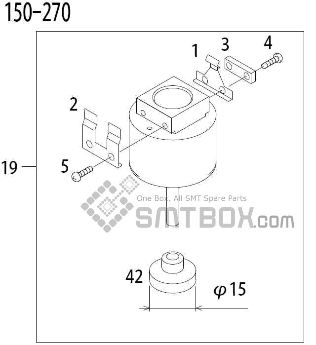 FUJI QP 341E MM 04 Nozzle Part No.ADBPN8174 Rating 150 270 side a