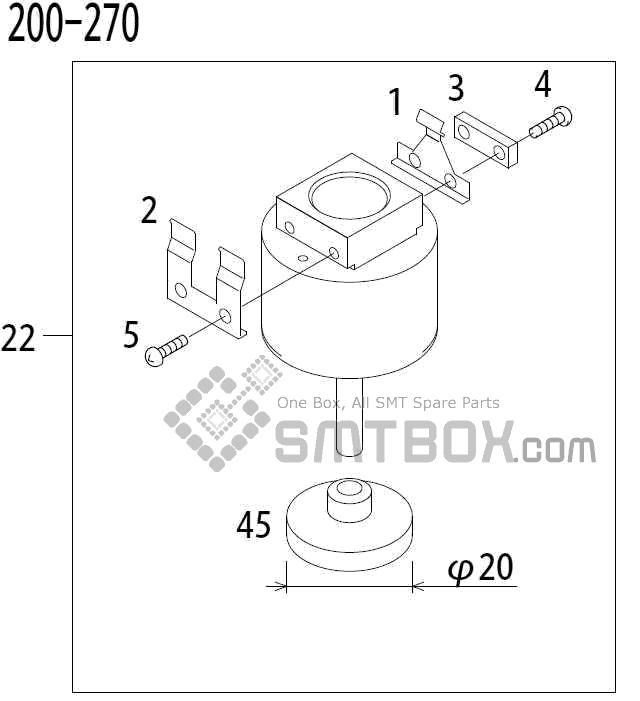 FUJI QP 341E MM 04 Nozzle Part No.ADBPN8184 Rating 200 270 side a
