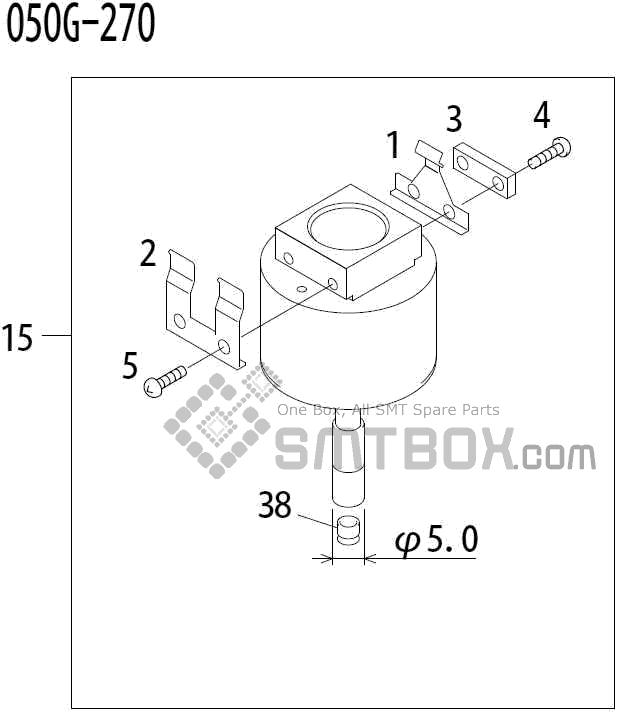 FUJI QP 341E MM 04 Nozzle Part No.ADBPN8204 Rating 050G 270 side a