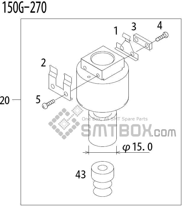 FUJI QP 341E MM 04 Nozzle Part No.ADBPN8224 Rating 150G 270 side a