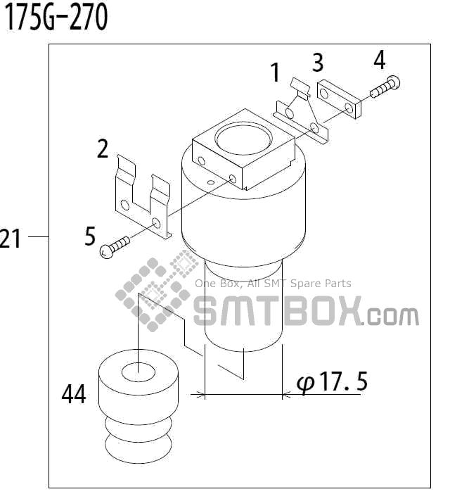 FUJI QP 341E MM 04 Nozzle Part No.ADBPN8234 Rating 175G 270 side a