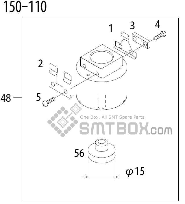 FUJI QP 341E MM 04 Nozzle Part No.ADBPN8334 Rating 150 110 side a