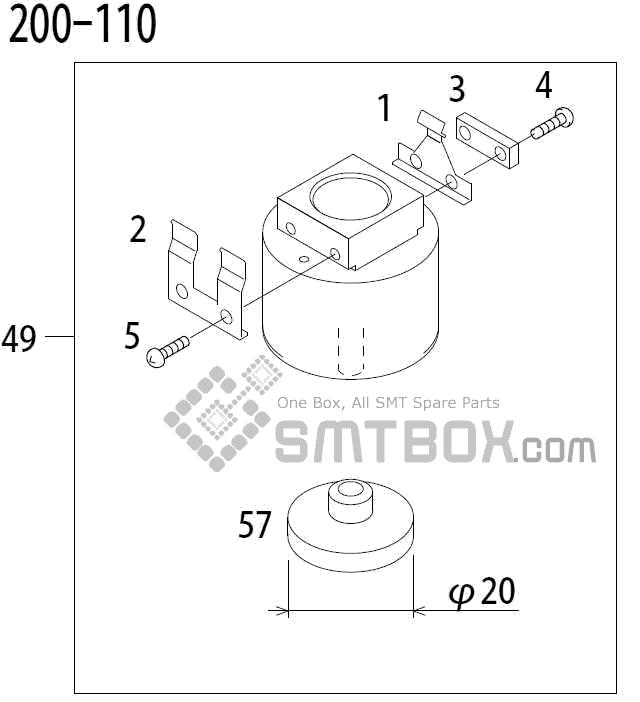 FUJI QP 341E MM 04 Nozzle Part No.ADBPN8344 Rating 200 110 side a