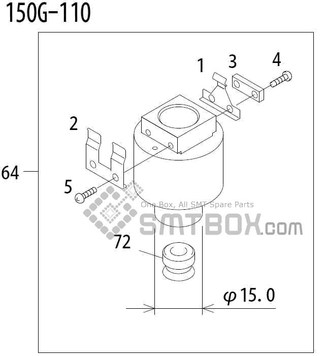 FUJI QP 341E MM 04 Nozzle Part No.ADBPN8382 Rating 150G 110 side a