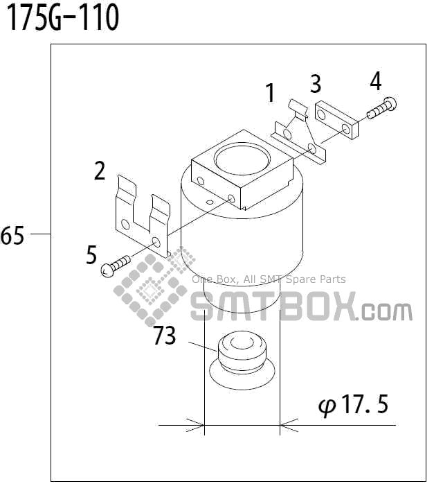 FUJI QP 341E MM 04 Nozzle Part No.ADBPN8392 Rating 175G 110 side a