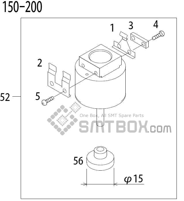 FUJI QP 341E MM 04 Nozzle Part No.ADBPN8434 Rating 150 200 side a