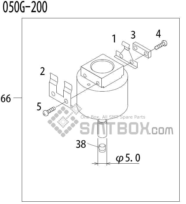 FUJI QP 341E MM 04 Nozzle Part No.ADBPN8452 Rating 050G 200 side a