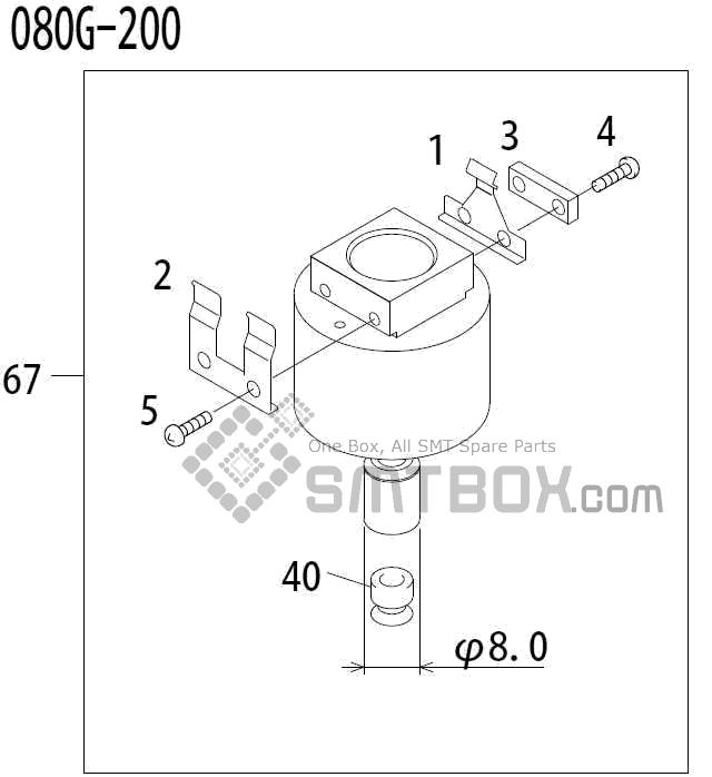 FUJI QP 341E MM 04 Nozzle Part No.ADBPN8462 Rating 080G 200 side a