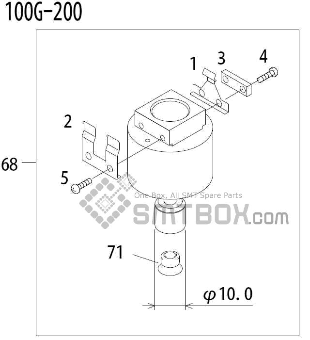 FUJI QP 341E MM 04 Nozzle Part No.ADBPN8472 Rating 100G 200 side a