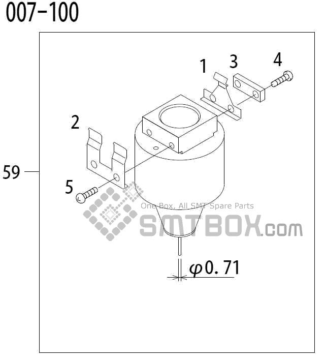 FUJI QP 341E MM 04 Nozzle Part No.ADBPN8524 Rating 007 100 side a