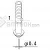 FUJI XP 141E XP 142E XP 143E Nozzle ADEPN8010 Diameter 0.4 side a