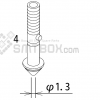 FUJI XP 141E XP 142E XP 143E Nozzle ADEPN8040 Diameter 1.3 side a