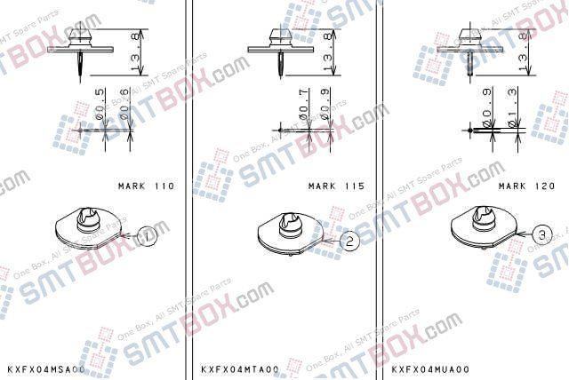 PANASONIC CM201CM202 nozzlePart No.KXFX04MSA00KXFX04MTA00KXFX04MUA00