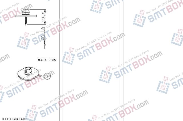 PANASONIC CM201 CM202 nozzle Part No.KXFX04N0A00 side a