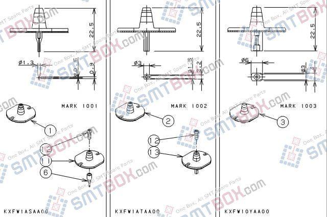 PANASONIC CM301 nozzlePart No.KXFW1ASAA00KXFW1ATAA00KXFW10YAA00