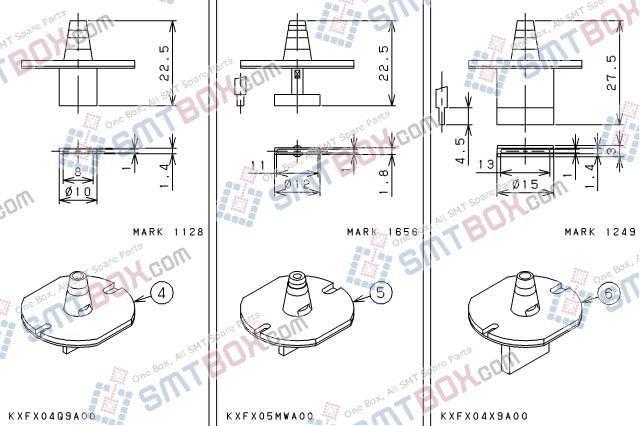 PANASONIC CM301 nozzlePart No.KXFX04Q9A00KXFX05MWA00KXFX04X9A00