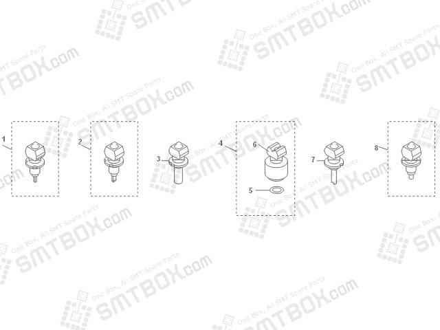 Yamaha YV180XG SMT SMD Nozzle KV8 M7710 A1X KV8 M7720 A1X KV8 M7730 00X KV8 M7740 A0X KV8 M7760 00X KV8 M77WL A0X 71A 72A 73A 74A 76A