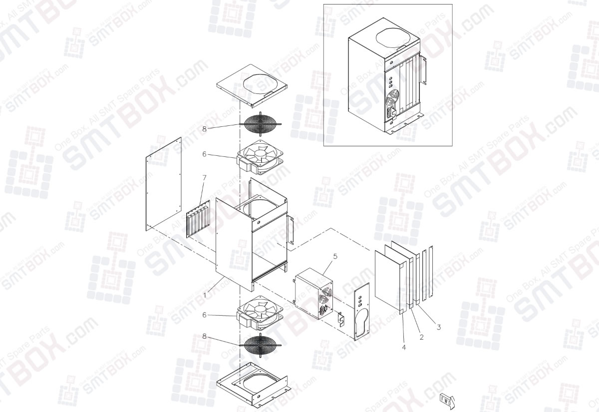 CPU BOX & Wiring N610015975AA on Panasonic SP18P-L Screen Printer NM-EJP1A