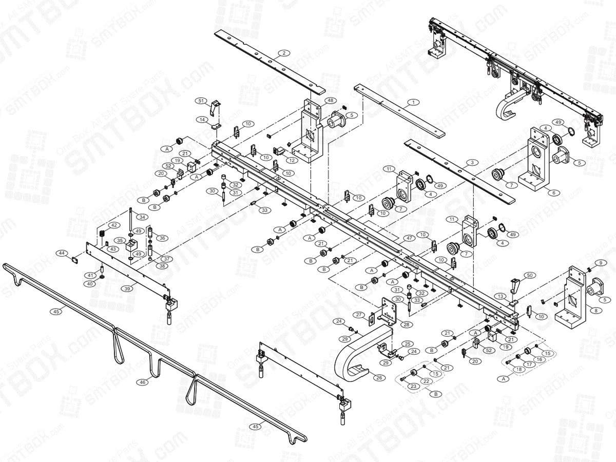 Conveyor(3/7) Front Move On Hanwha Techwin Excellent Modular EXCEN PRO (D) (M) (L) SMT Component Placer