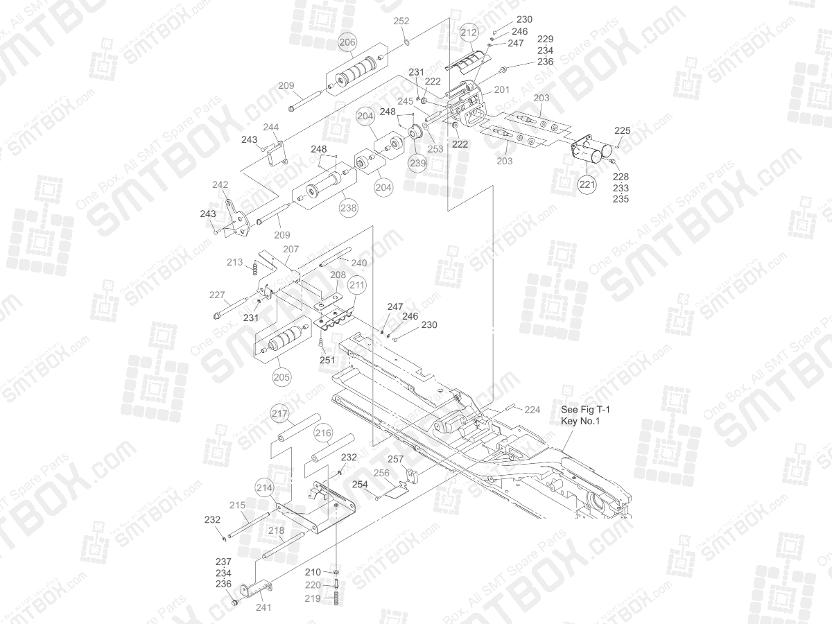 Cover Tape Winding Section on Hitachi Yamaha SMT Tape Feeder 72mm GT-72001B GD-72001B
