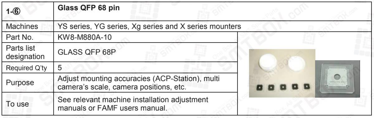 Glass Qfp 68 Pin For Yamaha YS, YG, Xg and X Series SMT Mounters