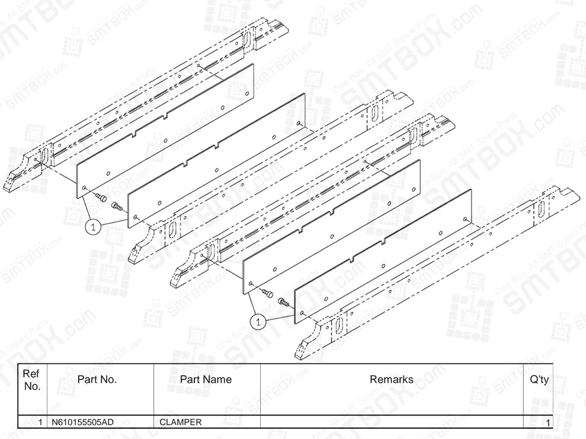 KN610154079AD-06-13 on Panasonic NPM-D2 PC Dual Conveyor Short N610154079AD