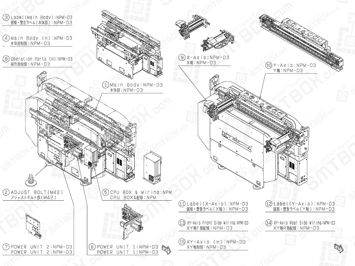 Kit Layout 1 on Panasonic Production Modular NPM-D3 SMT Pick and Place Machine