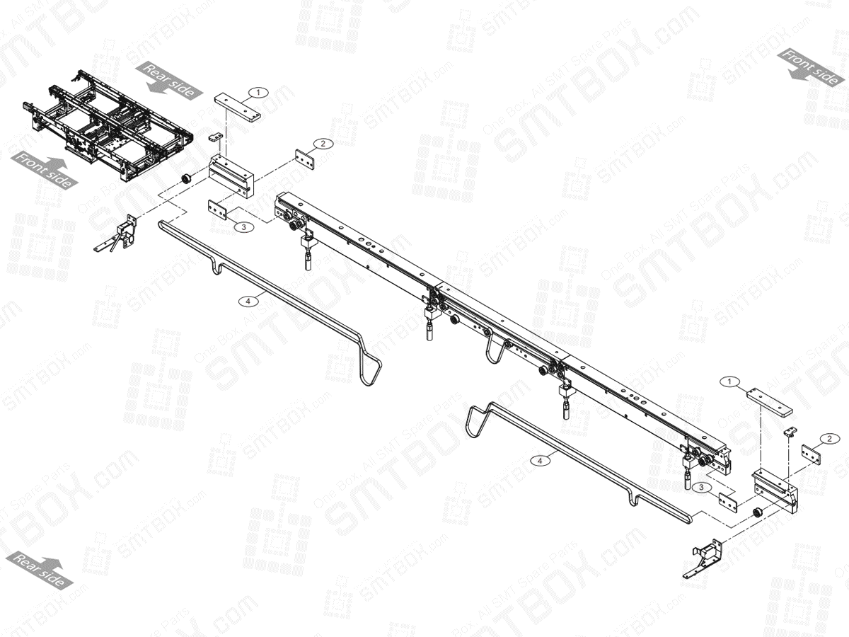 Large Conveyor Extension On Hanwha Techwin Excellent Modular EXCEN PRO (D) (M) (L) SMT Component Placer